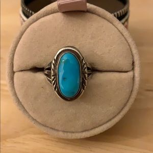 Oval Turquoise ring size 6.5